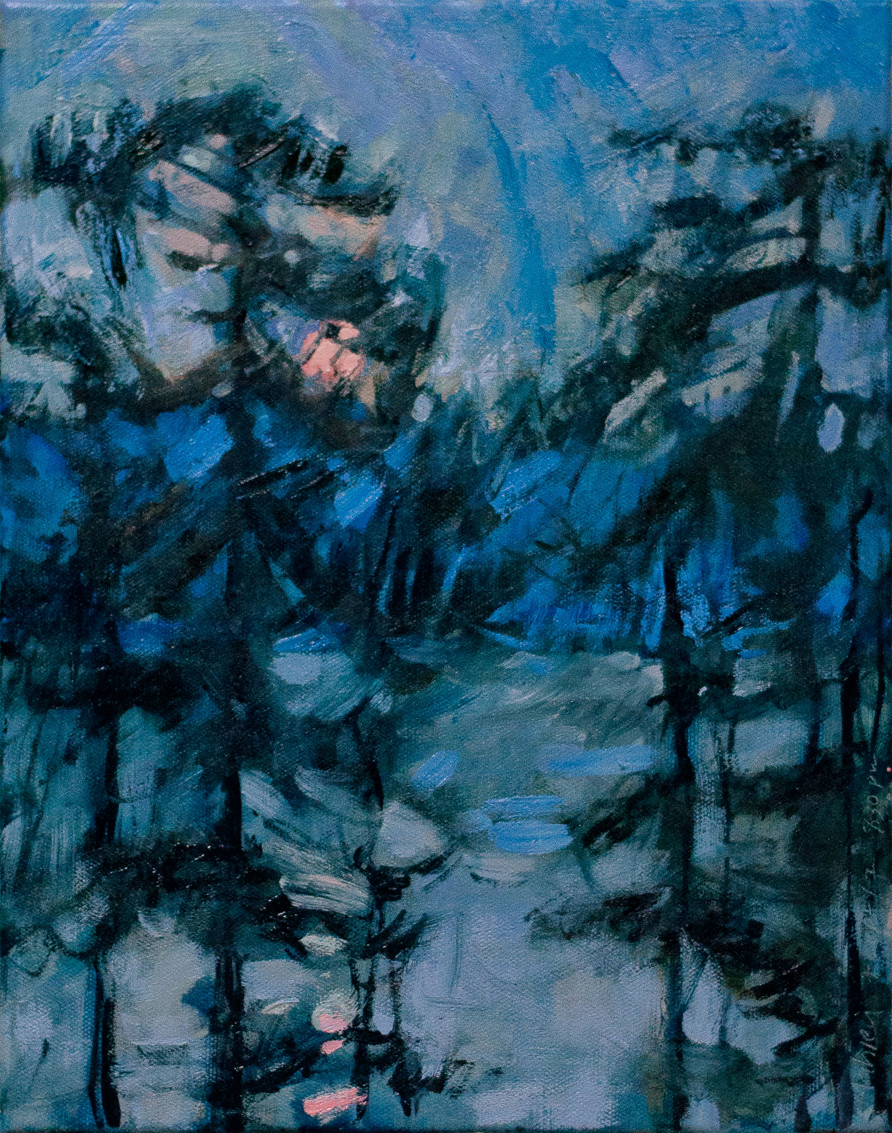 Moonrise in Prussian Blue