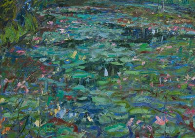 Lily Pond—Dusk, Lightning Bugs