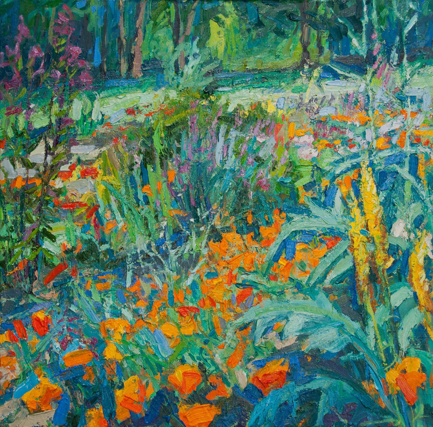 Poppy Garden—Early Summer Afternoon